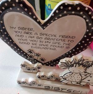 Loving sister's heart